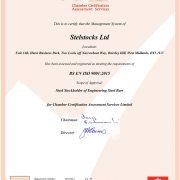stelstocks 9001 certificate