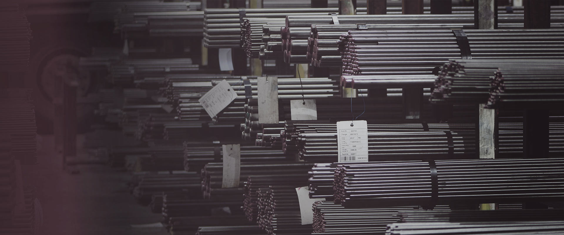 stacked steel bars